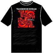TANGERINE DREAM (T-SHIRT) - RED TRAIN T-SHIRT (SIZE:L/BLACK/ROUND NECK) Size Large Black HQ T-Shirt with a Round Neck that displays the Artwork for their 2008 studio album plus the Note Sheet for one track from it!