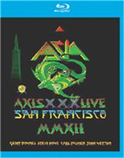 ASIA - AXIS-XXX:LIVE IN SAN FRANCISCO-2012 (BLURAY) Stunning HD Quality BluRay Edition of the classic ASIA line-up celebrating the 30th Anniversary of their self-titled debut album with a concert at the Regency Ballroom in San Francisco in 2012, featuring original members John Wetton (bass / vocals), Steve Howe (guitar), Geoff Downes (keyboards / vocals) and Carl Palmer (drums).