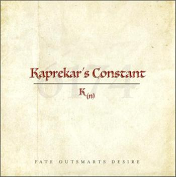 KAPREKAR'S CONSTANT - FATE OUTSMARTS DESIRE (2017 MELODIC PROG/GF CARD)