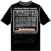 TANGERINE DREAM (T-SHIRT) - MOOG MODULAR T-SHIRT (SIZE:XL/BLACK/ROUND NECK) Size Extra Large Black HQ T-Shirt with a Round Neck displaying an image that will make you the envy of all the Synth Music anoraks!